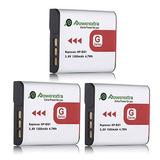3 X Batería De Cámara Np-bg1 Sony + Cargador Para Cybershot