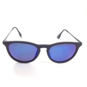 Oculos Quadrado Feminino Rb Erika Erica Azul Espelh Proteção