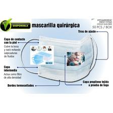 Mascarilla Quirúrgica 3capas Descartable, Importada.