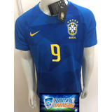 Camisa Nike Seleção Brasil Away 2018 Gabriel Jesus 9 Oficial