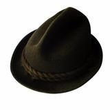 Sombrero Alemán Jagdhut, Tirolés, Fieltro Lana 100% Natural