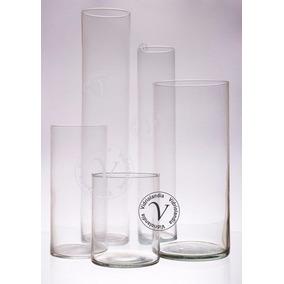 Florero Cilindro De 10x30 ,tubos De Vidrio Centro De Mesa