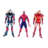 Set Figuras Marvel Ironman Spiderman