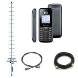 Kit Celular Rural Gsm Lg B220 C/ Antena 15dbi   Fretegrátis