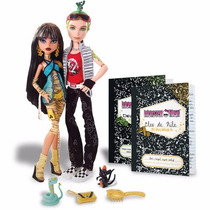 Monster High Casal Cleo De Nile E Deuce Gorgon Com Pets Novo
