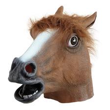 Cabeza De Caballo Mascara Latex Halloween Horse Head Mask