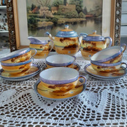 Juego De Té De Porcelana De Japón Cáscara De Huevo