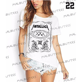 T-shirt Camiseta Blusa Fashion Rock Roll Metallica Star