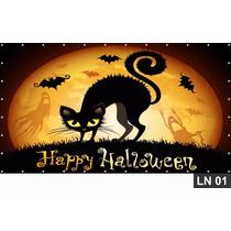 Halloween Painel 1,50x1,00m Lona Festa Banner Aniversário