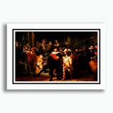 Quadro Rembrandt 60x40cm Ronda Noturna Pinturas Famosas Sala
