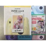 Camara Fujifilm Instax Mini 8 Amarilla + 20 Fotos Factura