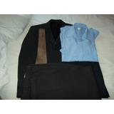 Ambo, Saco, Pantalon, Camisa, Corbata, En Muy Buen Estado