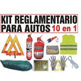 Kit De Seguridad Reglamentario Auto 10en1 C/ Matafuego 1kg $