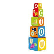 Bloques Cubos Apilables Tela Torre Vocales Bebe 5 Piezas