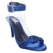 Sandalia Feminina Azul Salto Alto