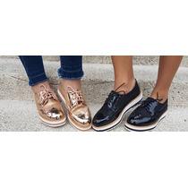Zapatos Oxford Bajos Plataforma