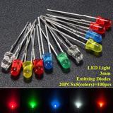 Kit Surtido Electrónica Luz Led 100 Unidades/20 Und X Color