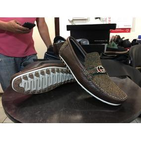 Zapato De Piel Exótica Para Caballero Tipo Guante (mocasín)