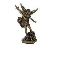 San Miguel Arcángel Figura Terminado Bronce Detallada