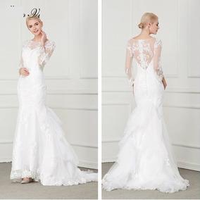 Vestido De Noiva Longo Sereia Renda