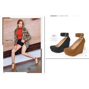 Zapatos Cklass Wedge Gamuza Negro Y Miel Otoño 2016 Nuevos