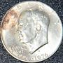 Cumpleaños 1976 Moneda Tono Plata Ley .4 Eeuu Eisenhower Gfz