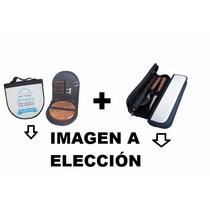 Estuche Asado + Porta Cuchillo Y Tenedor Personalizado