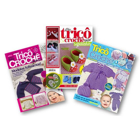 Lote De 3 Revistas Trico E Crochê Bebê Enxoval Sapatinhos