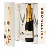 Champagne Francês Taittinger Reserve Brut 750ml Duas Taças