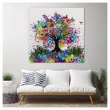 Cuadro Arbol Acuarela Abstracto Colores Modern Lienzo Canvas