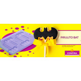 Pirulito Tema Bat Festas Forma Para Chocolates 10unidades