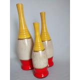 Trio De Vasos Decorativos - Enfeites Arranjo