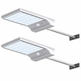 Luz Led Solar Con Sensor De Movimiento 2 Piezas 450lumenes