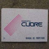 Daihatsu Cuore 1999 Manual Del Propietario Original