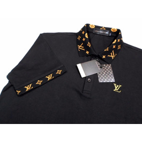 Camisa Pólo Louis Vuitton Cód: Lv017 Algodão 100 %