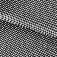 Tecidos 100% Poliéster Xadrez Preto E Branco 1m X 1,40m