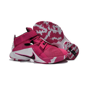 Nike Zoom Lebron Soldier 9 Think Pink Black And White