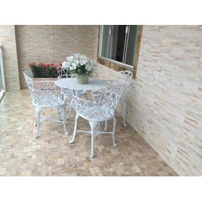 Promoçao Moveis Aluminio Fundido Conjunto Viena Para Jardim