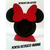 Porta Retrato Minnie Vermelha Para Lembrancinha Festas