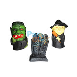 Adorno Halloween De Goma Varios Personajes Decoración X1