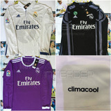 Jersey Real Madrid 2016-2017 Manga Larga James Ramos Ronaldo