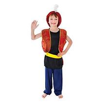 Disfraz Para Niño Árabe Genie Aladdin Boy Traje De 110cm Pa