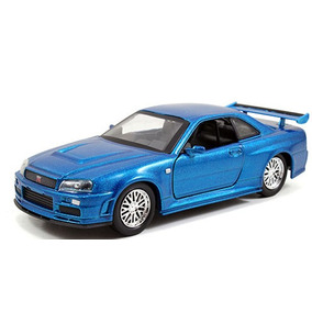 Fast And Furious Jada Toys 1:32 Nissan Skyline Gt R R34 2002