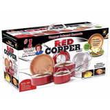 Sartenes Red Cooper Set 10 Pza Original Nuevo As Seen On Tv