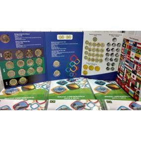 Coleção Completa Album+moeda Olimpiadas + Bandeira Rio 2016