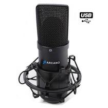 Microfone Usb Bku-01 Usb + Pedestal Vector + Pop Filter Amf1