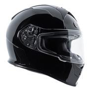 Casco Para Moto Torc T14 Mako Negro Brillante Con Lente Humo