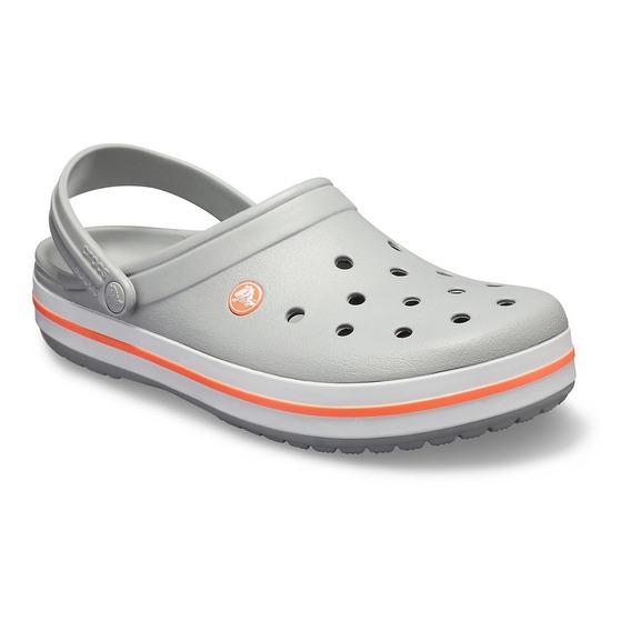 Crocs Crocband Jr Light Grey- Bright Envíos A Todo El País