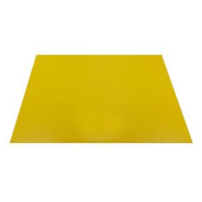 Jogo Americano De Couro C/ 4 Peças Amarelo Prático Charmoso