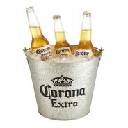 Balde Frapera Hielera Corona Cerveza De Chapa Zinc 19x23,5